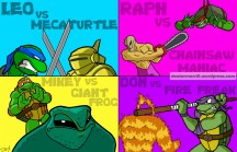 Power Poster #3 - Featuring: The NES TMNT