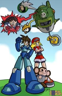 """""""Mega Man Legends"""" - 11"""" x 17"""" - $20"""