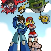 """Mega Man Legends"" - 11"" x 17"" - $20"