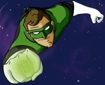 """Green Lantern"" - 8.5"" x 11"" - $15"