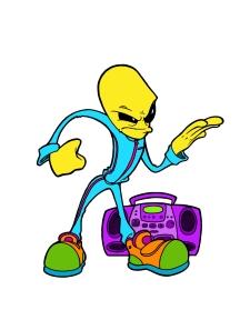 hip hop alien (color)