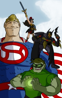 """""""Justice Avengers"""" - 11"""" x 17"""" - $20"""