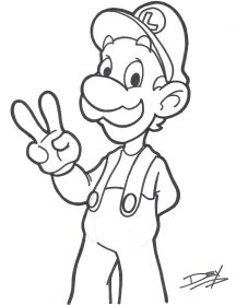 """Luigi"" - 8.5"" x 11"" - $10"