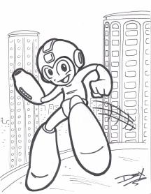"""""""Megaman"""" - 8.5"""" x 11"""" - $10"""