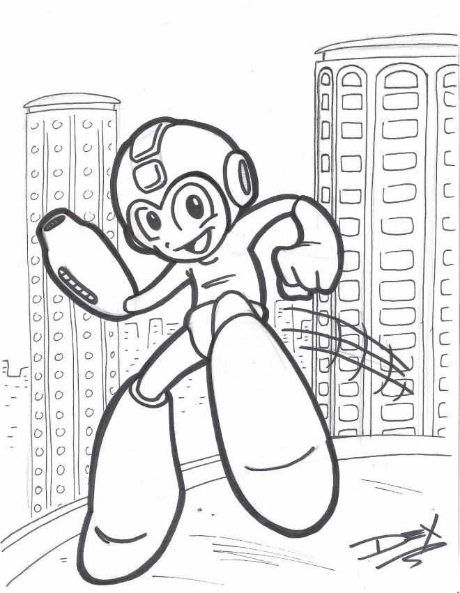 megaman sketch