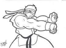 """""""Ryu Hadouken"""" - 8.5"""" x 11"""" - $10"""