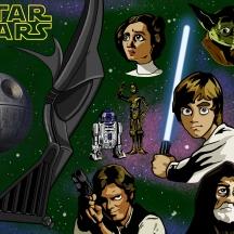 star wars poster (logo)
